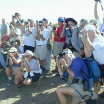Highpointers Paparazzi Photographing the Arrival of Jack Longacre on Black Mesa Summit