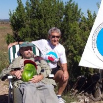 Jack Longacre and Jean Trousdale on Black Mesa Summit