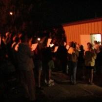 Highpointers Singing to Jack Longacre at Camp Billy Joe - Black Mesa, Oklahoma