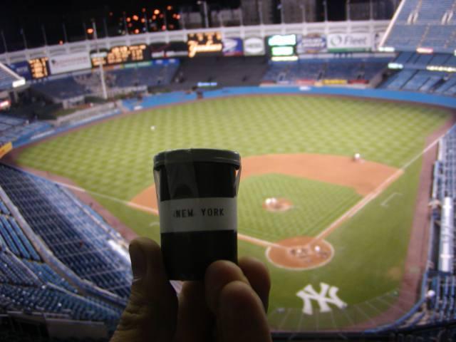 Yankee Stadium looks pretty good from on high.