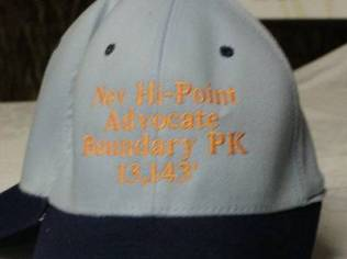 Joke Hat on Apex to Zenith April Fool's 2002 Issue During Black Mesa, Oklahoma, 2002 Highpointers Convention