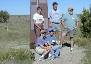 Penelope May, Tim Webb, Craig Noland, Diane & Charlie Winger at Highpointers 2002 Convention at Black Mesa, Oklahoma