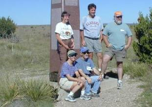 Penelope May, Tim Webb, Craig Noland, Diane & Charlie Winger at Highpointers 2002 Convention at Black Mesa, Oklahoma