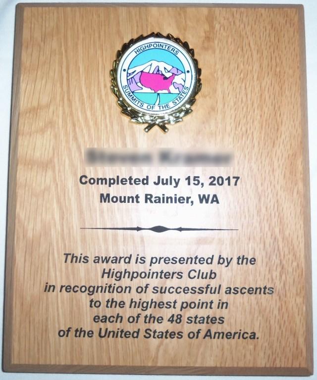 48 State Hardwood Plaque
