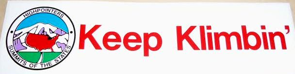 "Bumper Sticker (Static Cling) – ""Keep Klimbin'"""