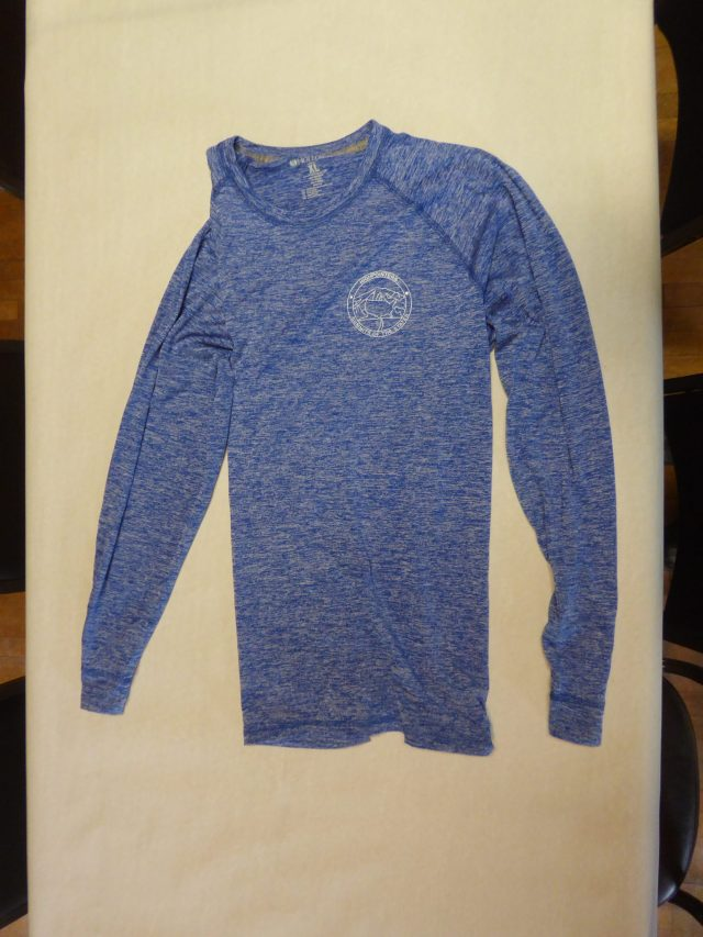 Dri-Fit Long Sleeved Shirt – Blue with white Club logo on Front