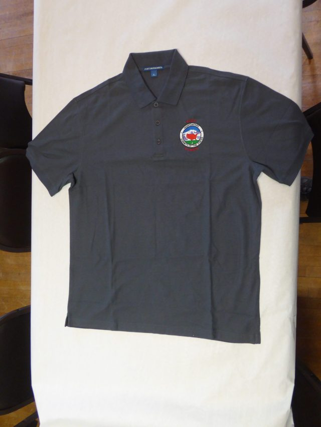 Polo Shirt – Charcoal Grey with small Club logo on Front