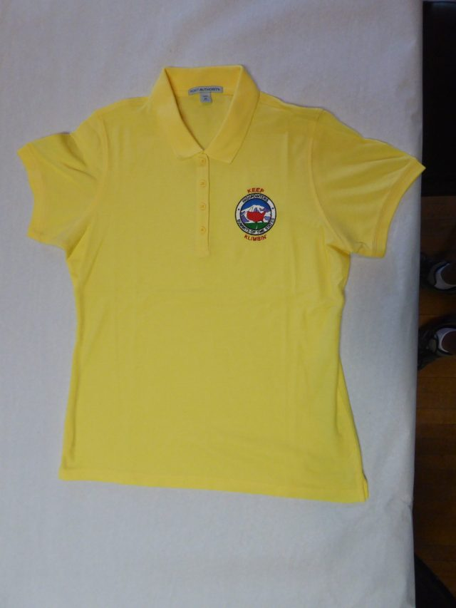 Ladies Polo Shirt – Yellow with small Club logo on Front