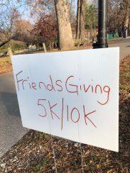 Friendsgiving run sign