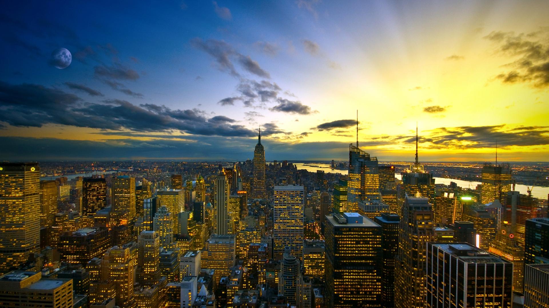 City Sunset Wallpaper
