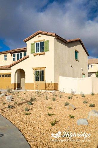 model homes landscape