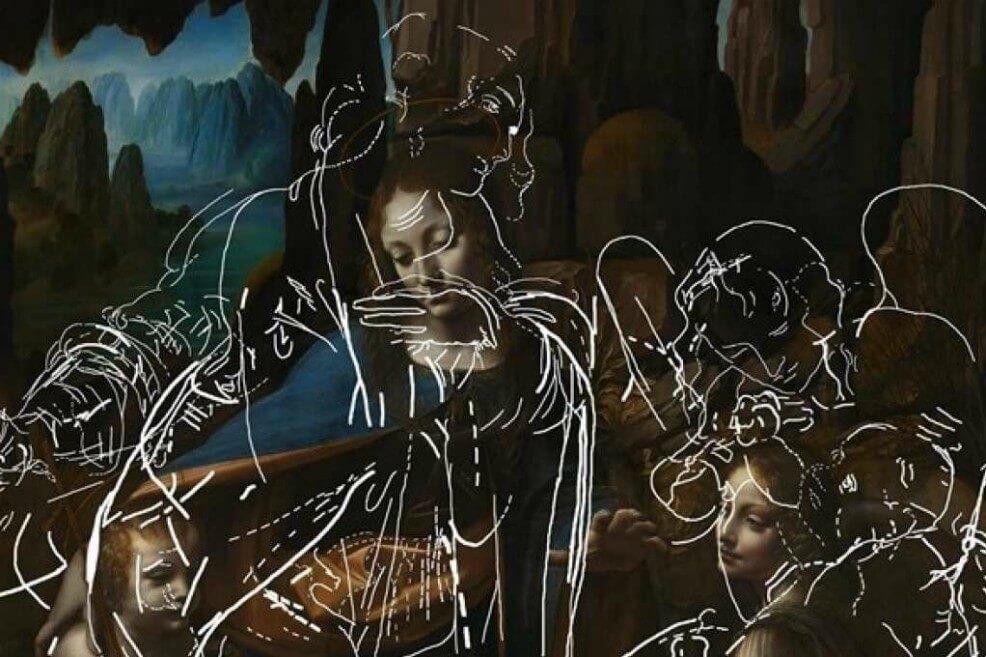 Un algoritmo revela dibujos ocultos en una obra maestra de Leonardo Da Vinci