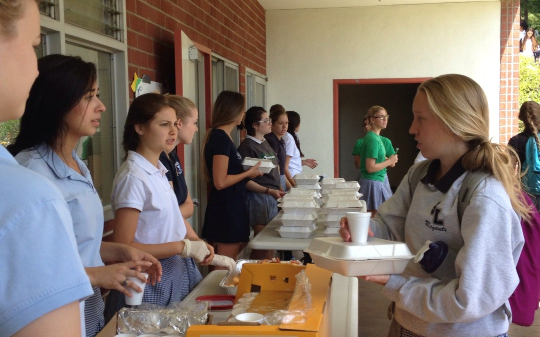 St. Lucy's eats food from around the world