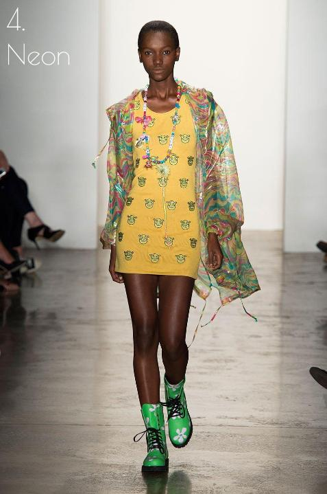 Herieth Paul models in Jeremy Scott's SS2015 in New York Fashion Week. Photo: Alessandro Lucioni/ Details by Armando Grillo IMAXTREE.COM