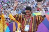 An athlete from the Bhutan team appreciates monumental experience during the Special Olympics World Games Opening Ceremony on Saturday.
