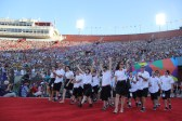 Team Finland captures this exciting moment and waves to their fans during the Special Olympics World Games Opening Ceremony on Saturday.