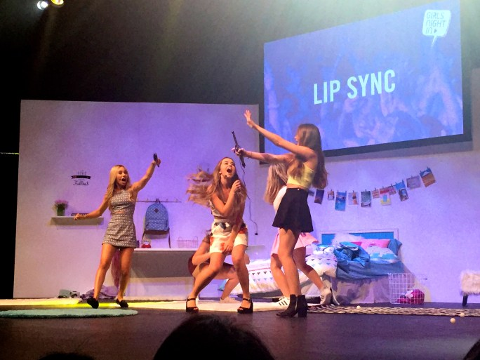Lip syncing to the Jonas Brother