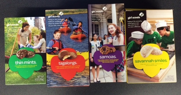 They're back! Girl Scout Cookies