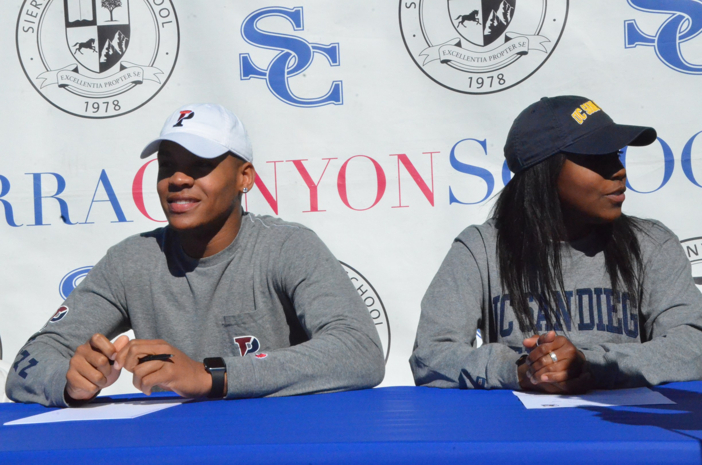 Hollinquest (Left) & Hobson (Right) during Signing Day