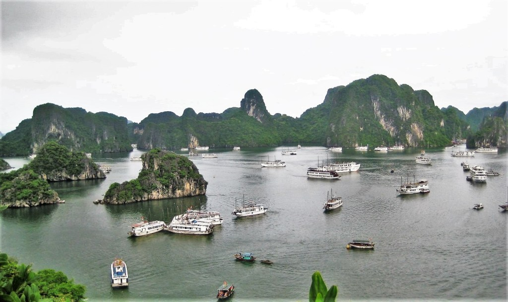 A gorgeous view of Halong Bay