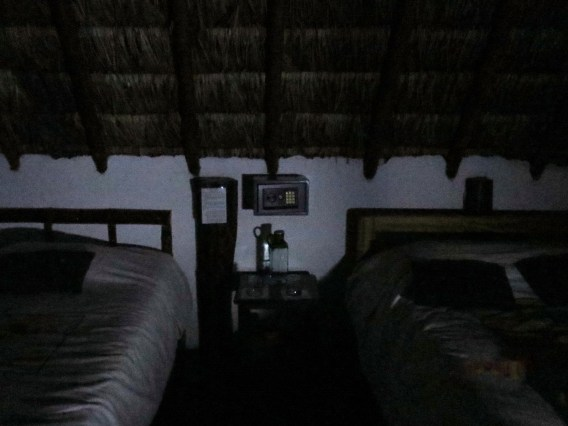 There was no electricity at all. At night, I could not see anything, and ash fell from the thatched roof onto the sheets.