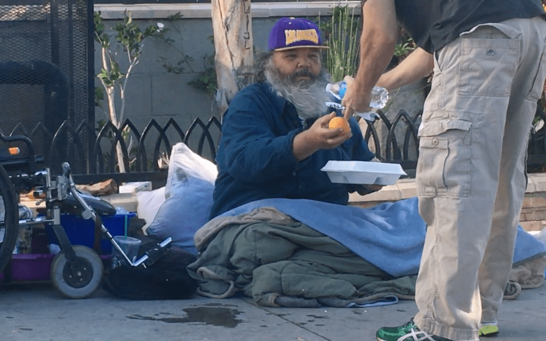 'The biggest potluck party in the country': Gobble Gobble Give brings meals and magic to L.A. homeless