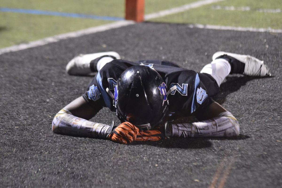 San Gorgonio Tyreque Jones after Valley View scored a touchdown, 14-24.
