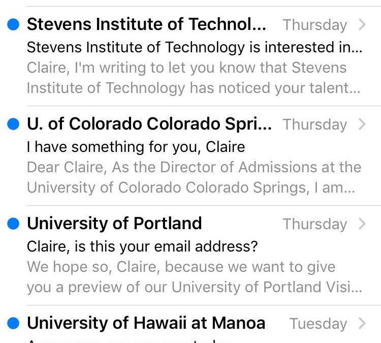 Opinion: High school students, ignore your college recruitment emails