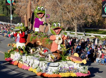 My experience working on the La Cañada Rose Parade float