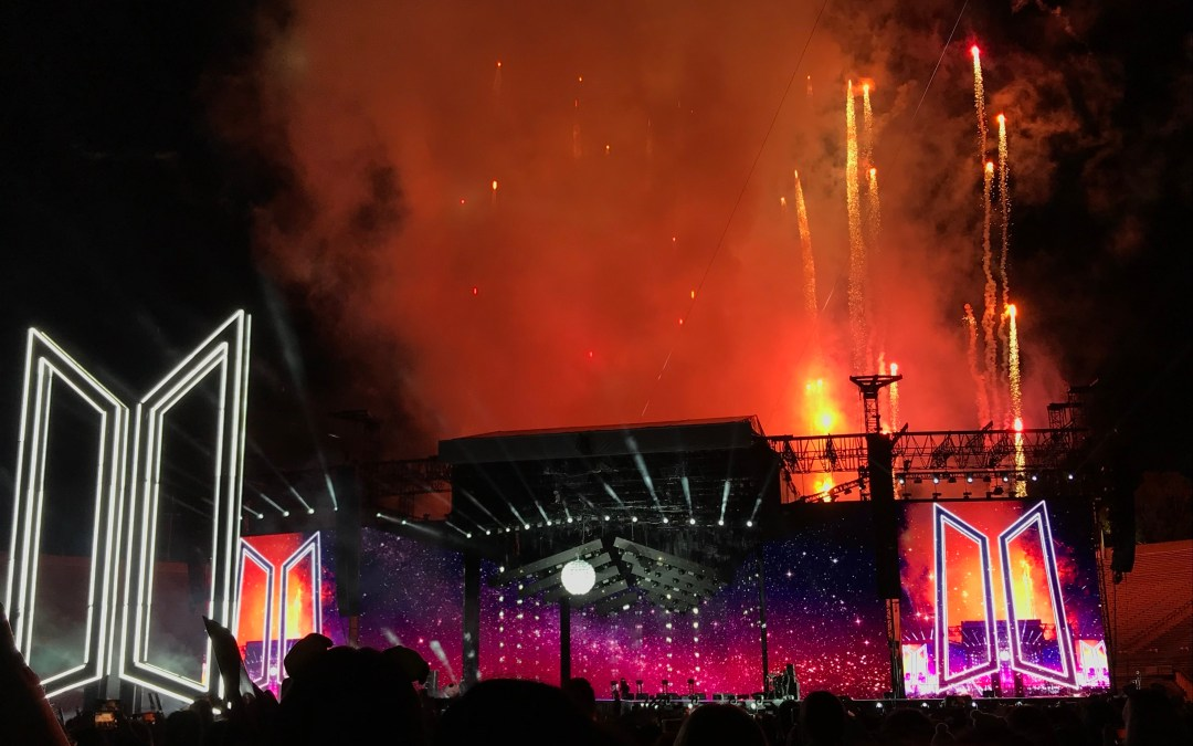 Concert review: BTS opens international stadium tour at the Rose Bowl