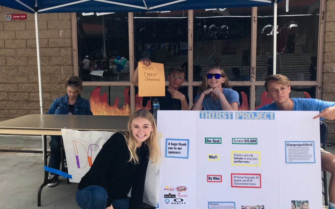 MV Thirst Project: A schoolwide effort to solve a worldwide problem