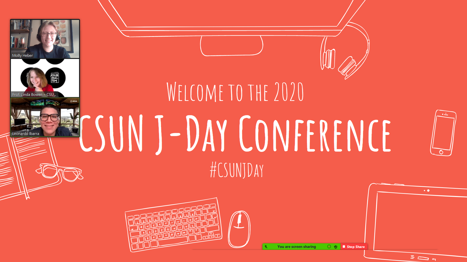 Welcome slide of the first-ever virtual CSUN J-Day.