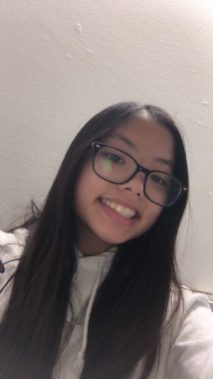 """""""I'm taking hybrid. I like how there's different teams so [not all hybrid students] would be at school the same days. [With the circumstances], clubs can have meetings outside and assemblies can be shown in class,"""" freshman Vanessa Le said. (Photo courtesy of Vanessa Le)"""