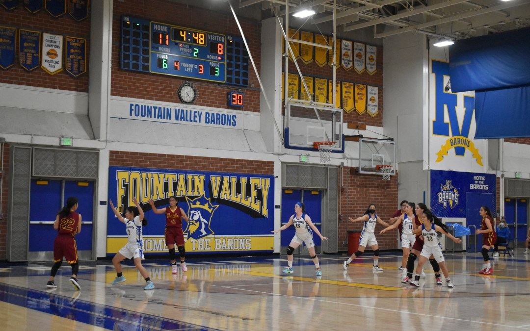 Fountain Valley girls' basketball win against Ocean View's Seahawks