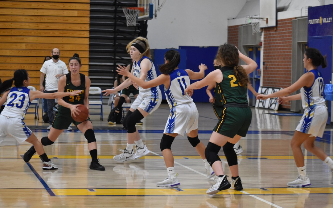 Fountain Valley High School girls' basketball loses to a charged up Edison