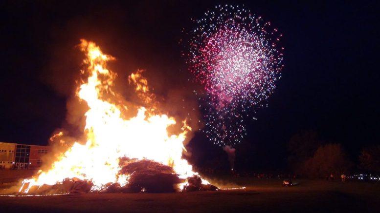 Easton football bonfire