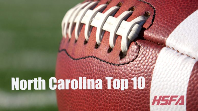 north carolina high school football top 10