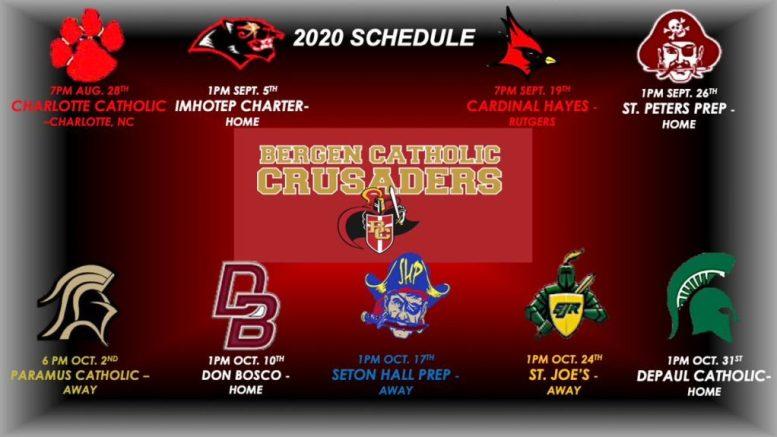 bergen catholic high school football schedule