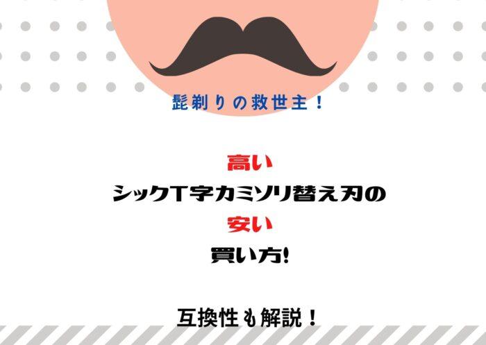 髭剃りの救世主!高い、シックT字カミソリ替え刃の、安い買い方!互換性も解説!