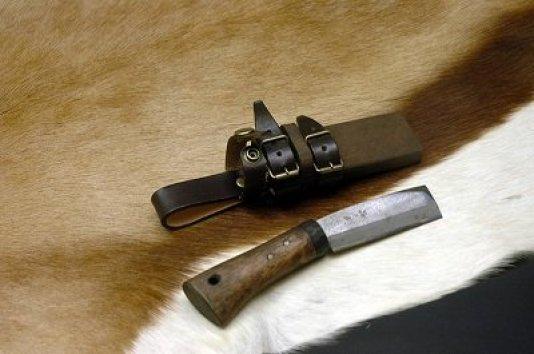 ミニ腰鉈 両刃 75 白鋼 071208-08