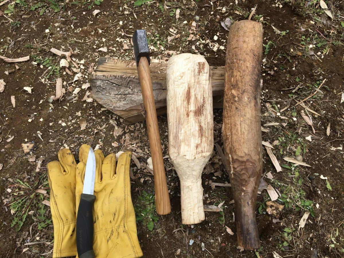 焚き火の必需品?!安全に手斧、ナイフを使うなら『こん棒』でしょ?!お洒落アイテム『こん棒』を自作しよう!!