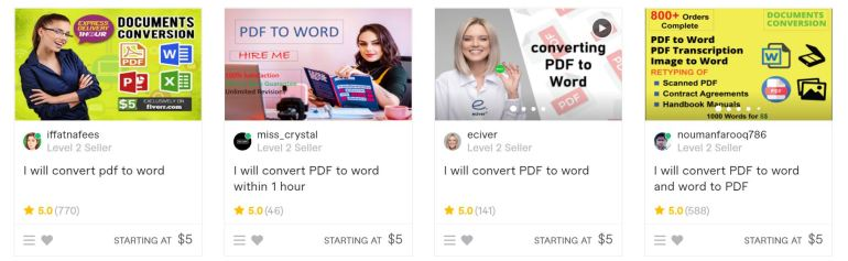 fiverr easy gigs for anyone to make money without any skill
