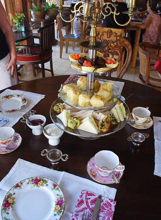 Afternoon Tea cake stand at Biku