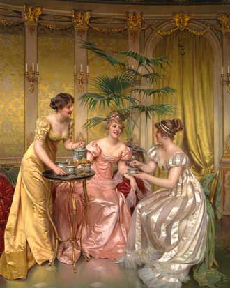 Afternoon Tea for Three by Charles Joseph Frederick 1825 - 1879