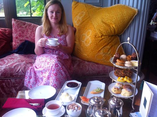 Kate Kendall takes High Tea at Stapleford Park