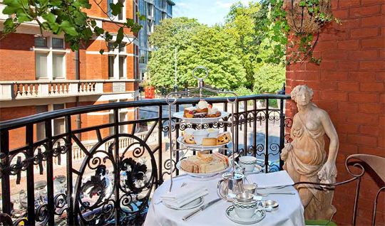 Afternoon Tea can be served on your balcony