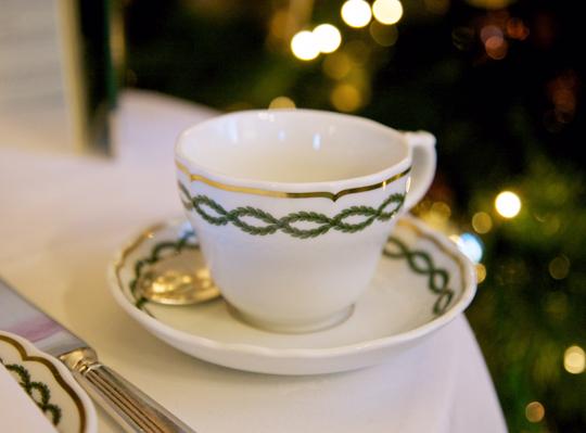 Tea cup at The Milestone Hotel, Photo by Zara Farrar