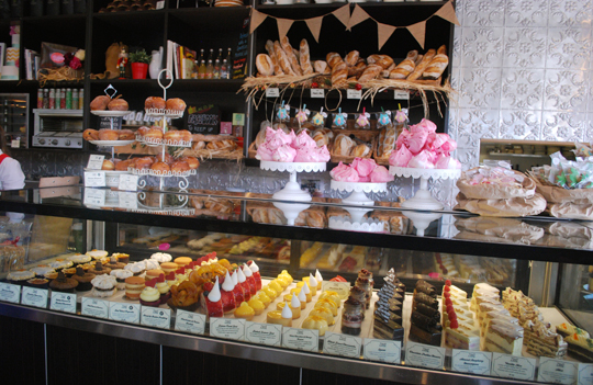 Cake counter at Zimt Patisserie Bakery Cafe