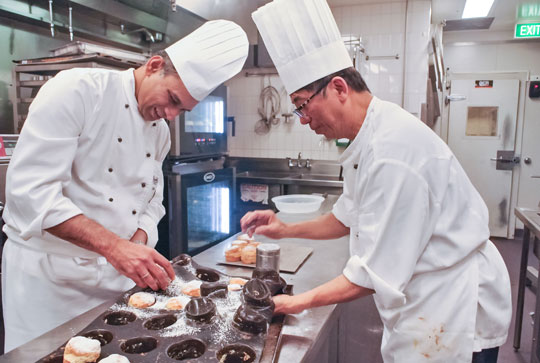Executive Chef Oswin Ribeiro and Pastry Chef Jacob Teo