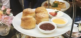 Buttermilk scones with Darbo jams, lemon curd and double cream